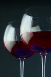 Paires de glaces de vin Images libres de droits