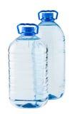 Paires de grandes bouteilles d'eau Photos stock