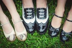 Paires de Hree de chaussures à la mode photos libres de droits