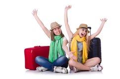 Paires de jeunes étudiants Image stock