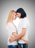 Paires de l'homme et de femme dans l'amour Photos stock