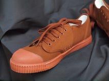 Paires de nouvelles chaussures de toile Images libres de droits