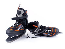 Paires de patins de hockey sur glace de l'homme Image stock