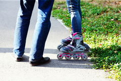 Paires de patins de rouleau Photo stock
