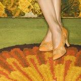 Paires de pieds femelles. Images stock