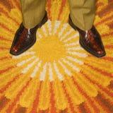 Paires de pieds mâles. Photos libres de droits