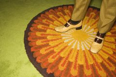 Paires de pieds mâles. Images stock