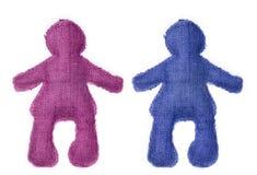 Paires de poupées en couleurs Image libre de droits