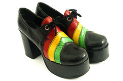 Paires de rétro chaussures de haut talon de plate-forme de dames Image libre de droits