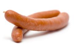Paires de saucisses bouillies Images libres de droits