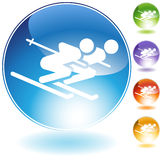 Paires de ski Image stock