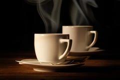 Paires de tasses d'expresso Images stock