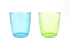 Paires de tasses en verre Photos libres de droits