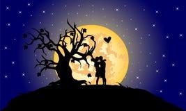 Paires romantiques illustration de vecteur