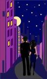 Paires romantiques Illustration Libre de Droits