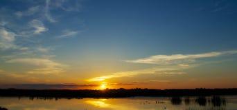 Pairie-Sonnenuntergang stockbild