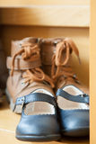 Pairs of autumn shoes Stock Photography
