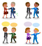 Pairs of businessman shaking hands Stock Images
