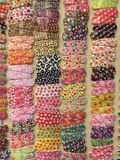 Colorful hair clips. Pairs of colorful hair clips offered for sale Stock Image
