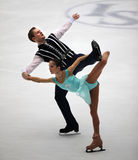 Pairs-Free Skating performance Royalty Free Stock Photography