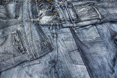 Pairs of jeans seen from behind Royalty Free Stock Photos