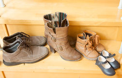Pairs of  shoes Stock Photography