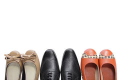 3 pairs of shoes Stock Image