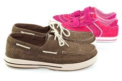 Pairs of sport shoes Stock Photography