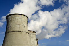 Number of cooling towers Stock Images