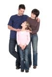 Pais com filha Fotografia de Stock Royalty Free