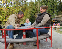 Pais com filho Fotografia de Stock