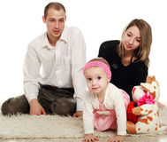 Pais e bebê novos imagem de stock royalty free