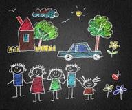Pais e crianças felizes ilustração royalty free
