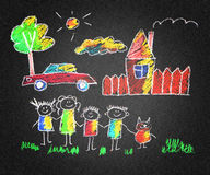 Pais e crianças felizes ilustração do vetor