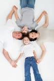 Pais e miúdos Foto de Stock