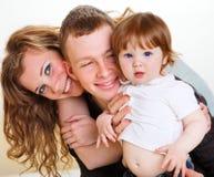 Pais e seu bebê Imagens de Stock Royalty Free
