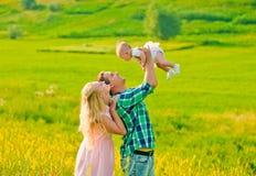 Pais felizes Foto de Stock