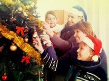Pais felizes com crianças Imagens de Stock Royalty Free