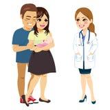 Pais que falam o doutor ilustração royalty free