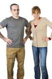 Pais severos que olham irritados Imagem de Stock Royalty Free
