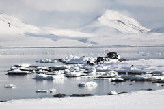Paisagem ártica do inverno Foto de Stock Royalty Free