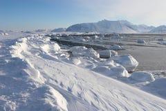 Paisagem ártica do inverno Fotografia de Stock Royalty Free