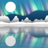 A paisagem ártica do polo gerada contrata o fundo Fotografia de Stock