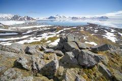 Paisagem ártica do verão fotografia de stock royalty free