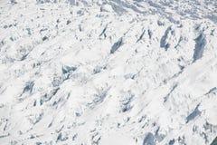 Paisagem ártica, geleira com os crevasses grandes, profundos Imagens de Stock