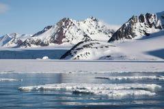 Paisagem ártica - geleira e montanhas Foto de Stock Royalty Free