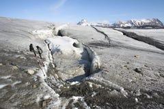Paisagem ártica - na geleira Imagens de Stock