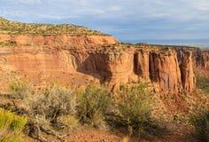 Paisagem áspera do monumento nacional de Colorado Imagens de Stock Royalty Free