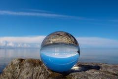 A paisagem é refletida Fotografia de Stock
