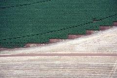 Paisagem aérea com campo rural Foto de Stock Royalty Free